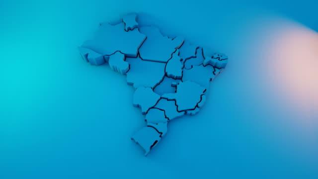 vídeos de stock, filmes e b-roll de mapa brasil - mapa