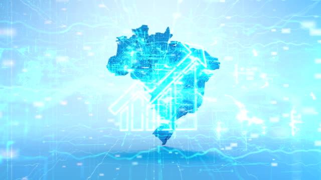 vídeos de stock, filmes e b-roll de mapa brasil - américa do sul