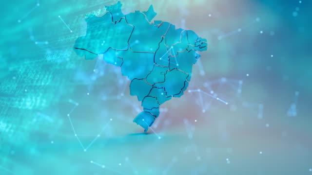 vídeos de stock, filmes e b-roll de mapa brasil - número