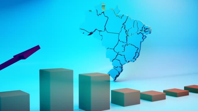 vídeos de stock, filmes e b-roll de mapa brasil - estratégia de negócio