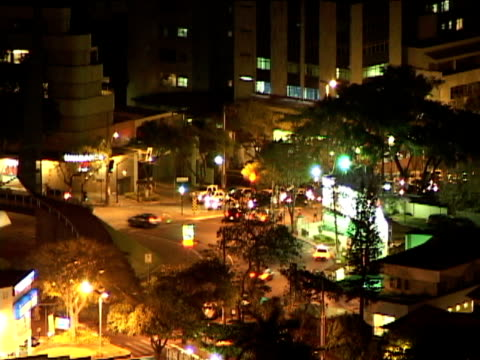 ms, zo, ws, ha, brazil, minas gerais, belo horizonte, cityscape at night - belo horizonte stock videos and b-roll footage