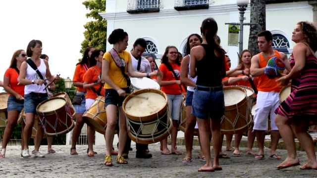brazil, olinda, music and carnival - practicing stock videos & royalty-free footage