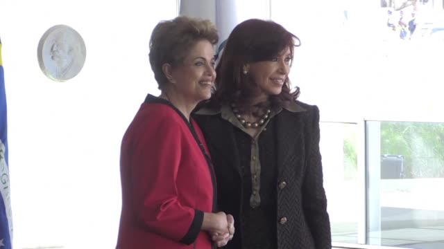 brazil president dilma rousseff welcomes latin american presidents at the 48th mercosur summit - mercosur stock videos & royalty-free footage