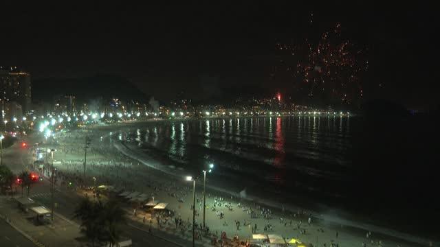 BRA: Brazil rings in 2021 with nearly empty Copacabana beach