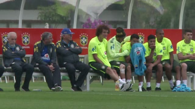 brazil striker neymar is ruled out of the remainder of the world cup dealing the hosts a crushing blow - quarterfinal round stock videos & royalty-free footage