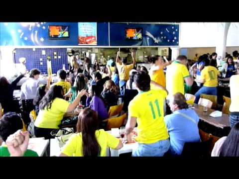 brazil vs netherlands quarterfinal match on july 2 in brasilia - fifa world cup 2010 stock videos & royalty-free footage