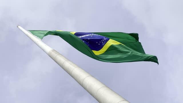 stockvideo's en b-roll-footage met brazilië dat vlag zwaait - politiek en staatsbestuur