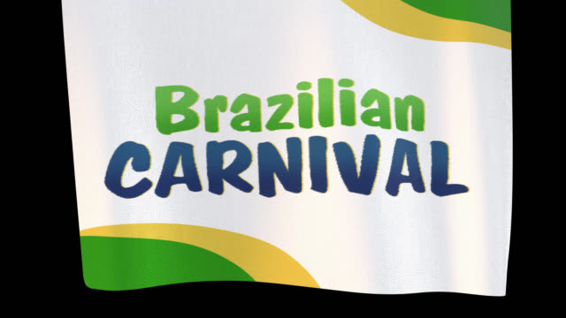 ブラジルのカーニバル展開布の看板。アルファチャンネルは、4k apple prores 4444ファイルのみをダウンロードするときに含まれます - バナー看板点の映像素材/bロール
