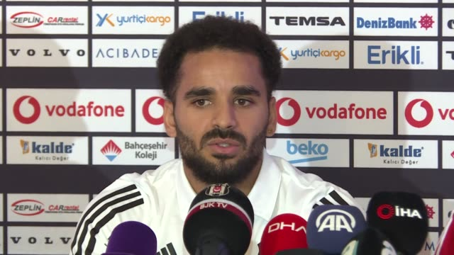 brazilian defender douglas pereira dos santos of besiktas speaks during a press conference after his transfer to besiktas within the training camp in... - besiktas stock videos and b-roll footage