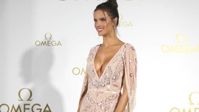 brazilian fashion model alessandra ambrosio attends a launch event of omega constellation manhattan ladies watch collection on april 25 2019 in... - flash stock videos & royalty-free footage