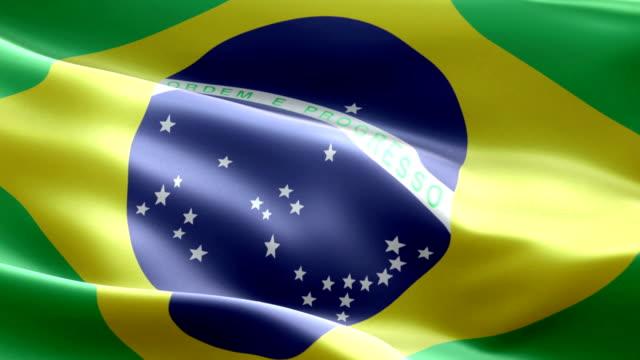 vídeos de stock, filmes e b-roll de bandeira brasileira - flag