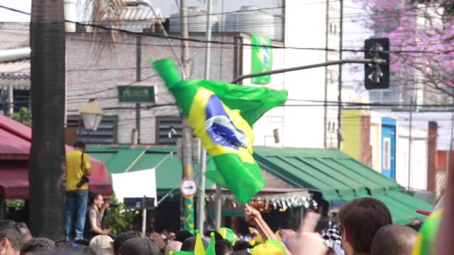 vídeos de stock, filmes e b-roll de brazilian flag - política