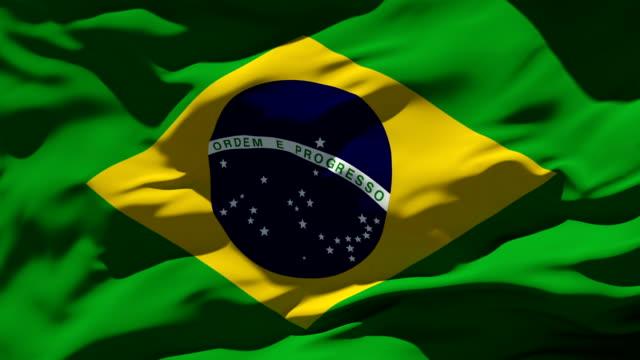 brazilian flag - flag stock videos & royalty-free footage