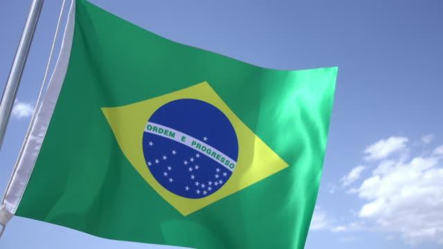 ブラジルの国旗 - 許し点の映像素材/bロール