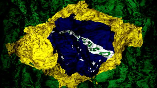 vídeos de stock, filmes e b-roll de bandeira brasileira - bandeira