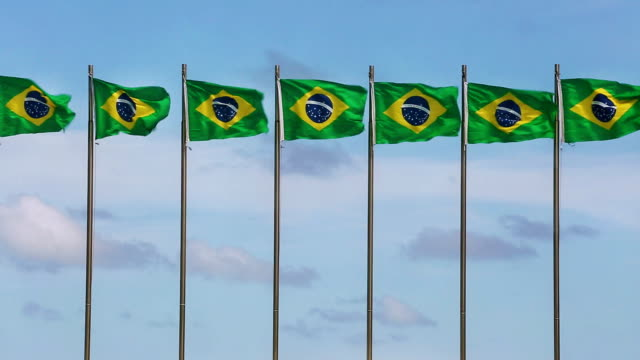 stockvideo's en b-roll-footage met brazilian flags - vijf dingen