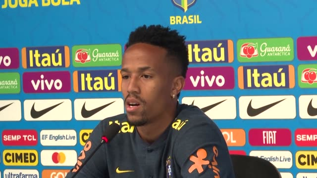Brazilian football players discuss the team's chances in the upcoming Copa America to be played in various sites around the country in June