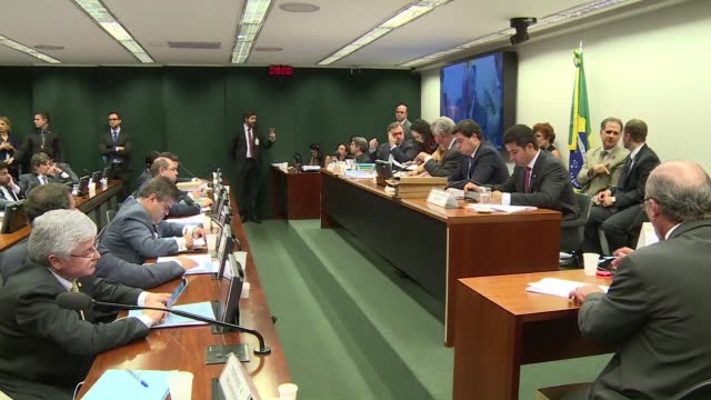brazilian house speaker eduardo cunha who is spearheading the impeachment process against president dilma rousseff suffered huge setbacks of his own... - speaker of the house stock videos and b-roll footage
