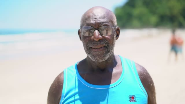 Brazilian Man Portrait at Beach