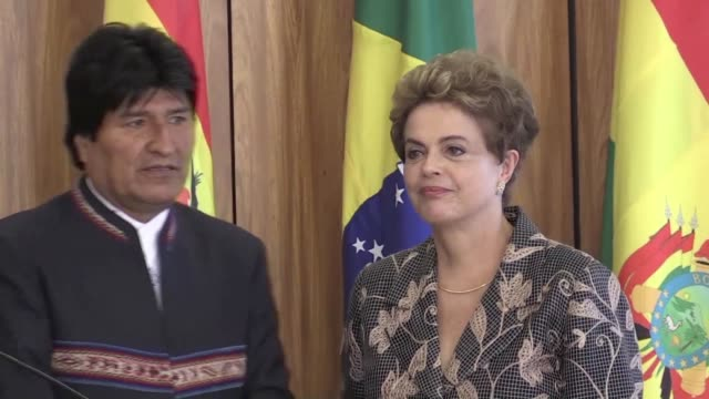 brazilian president dilma rousseff and her bolivian counterpart evo morales met on tuesday to discuss ways to work together in the fight against the... - evo morales stock videos & royalty-free footage