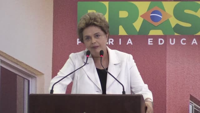 stockvideo's en b-roll-footage met brazilian president dilma rousseff said wednesday she was the victim of a coup as her allies horse traded frantically for enough votes to ride out an... - staatsgreep