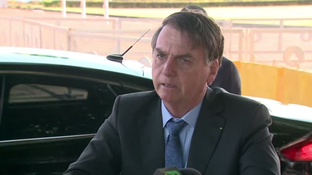 brazilian president jair bolsonaro supporting a previous statement by his finance minister says brazil will leave the south american common market... - mercosur stock videos & royalty-free footage