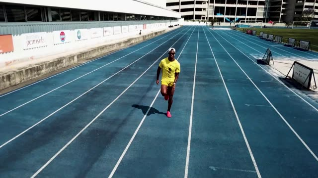 brazilian sprinter vitor hugo dos santos during a training session at nar on october 5 2020 in sao paulo brazil vitor is 24 years old and started in... - world sports championship stock videos & royalty-free footage