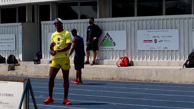 brazilian sprinter vitor hugo dos santos during a training session at nar on october 5, 2020 in sao paulo, brazil. vitor is 24 years old and started... - world sports championship stock videos & royalty-free footage