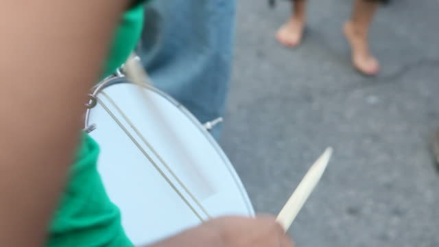 brazilian street festival - drum percussion instrument stock videos & royalty-free footage