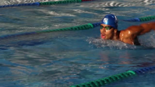 brazilian swimmer guilherme costa exercising during a training session at afbndes - clube da barra amidst the coronavirus pandemic on july 21, 2020... - 800 metre stock videos & royalty-free footage