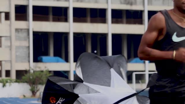 brazilian track athlete rodrigo pereira do nascimento during a training ĺsession at nar on october 7, 2020 in sao paulo, brazil. rodrigo won the gold... - world sports championship stock videos & royalty-free footage