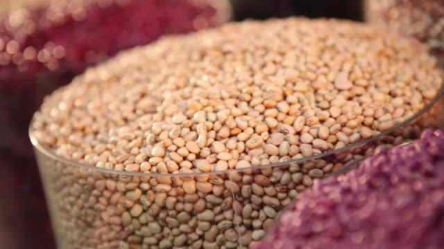 ms pan r/f brazilian typical grains / food / sao paulo, brazil - black eyed peas stock videos & royalty-free footage