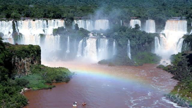 Brazilian waterfall. Foz do Iguazu, Brazil. World Famous Iguazu Falls. Paradise