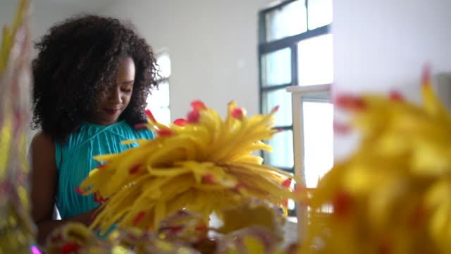 brazilian woman getting ready for carnaval - brazilian carnival stock videos and b-roll footage
