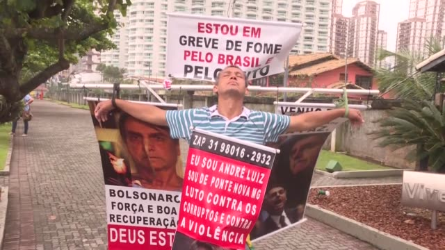 brazil's far right presidential candidate jair bolsonaro a former army captain prone to misogynist homophobic and racist remarks looks poised to... - homophobia stock videos & royalty-free footage