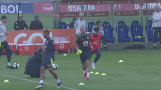 brazil's national team train at their facility in rio de janeiro and forward everton who says his life has changed since his performances at the copa... - national team stock videos & royalty-free footage