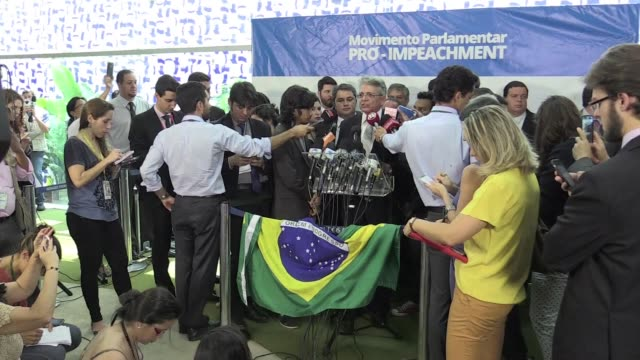 brazils opposition has submitted a new impeachment petition against president dilma rousseff accusing her of illegal accounting practices saying this... - petition stock videos & royalty-free footage