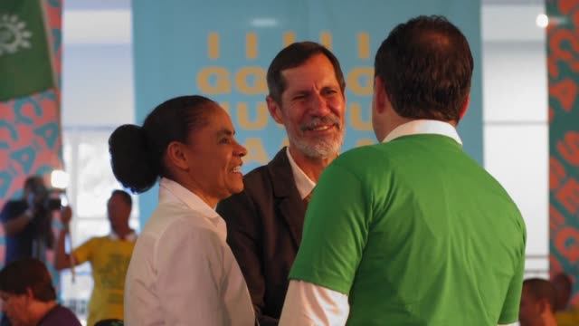 vídeos de stock, filmes e b-roll de brazil's rede party officialises marina silva ex environment minister under former leftist leader lula da silva as its presidential candidate ahead... - ex