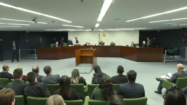 brazil's supreme court rejects a request to free leftist icon luiz inacio lula da silva from prison as court voted 32 to postpone debate on whether... - court stock videos & royalty-free footage