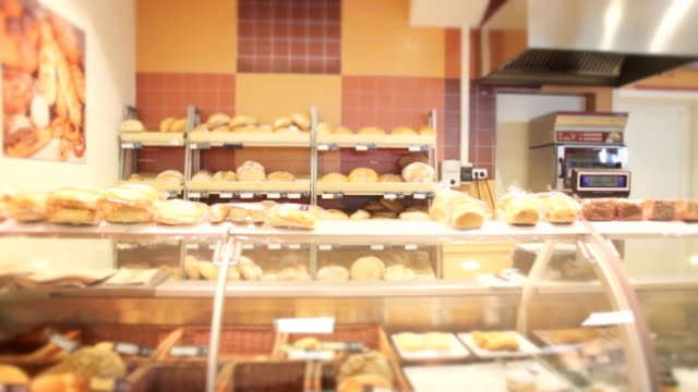 bread and pastry shop - cream cake stock videos & royalty-free footage