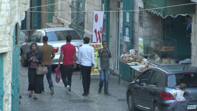bread shop, bethlehem, palestine - palestine girl stock videos and b-roll footage