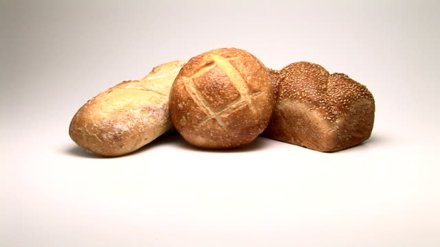 bread - pane a lievito naturale video stock e b–roll