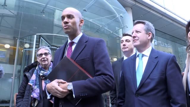 breakaway mps from the independent group have begun talks with the elections watchdog about becoming a fullyfledged party group spokesman chuka... - spokesman stock videos and b-roll footage