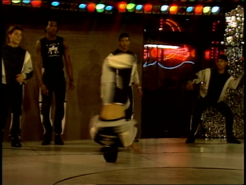 breakdancers doing headspins - roxy nyc stock videos & royalty-free footage