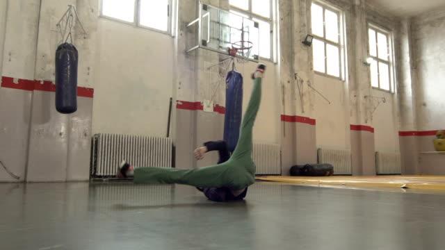 Breakdance Windmühle, Zeitlupe