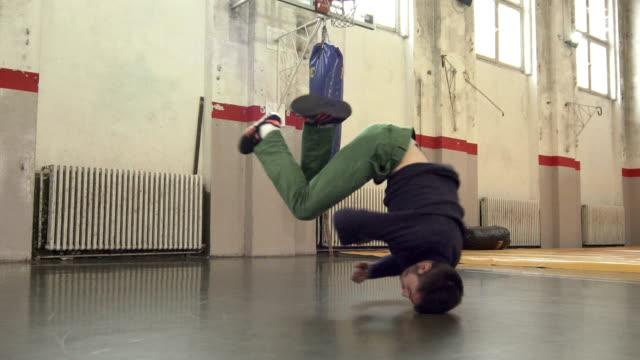 Breakdancing windmill, slow motion