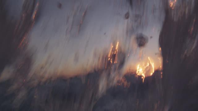 breaker splashes over camera at sunset, bahamas - bimini stock videos & royalty-free footage