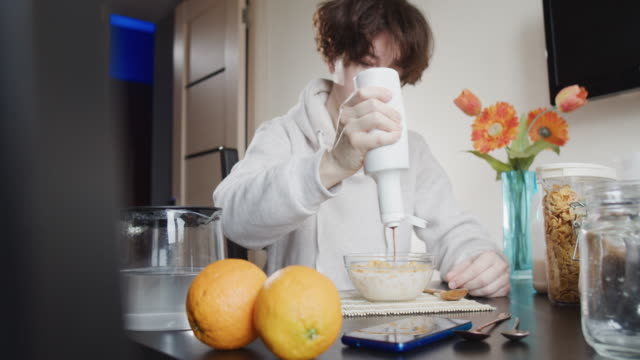 breakfast at home - buttermilk stock videos & royalty-free footage