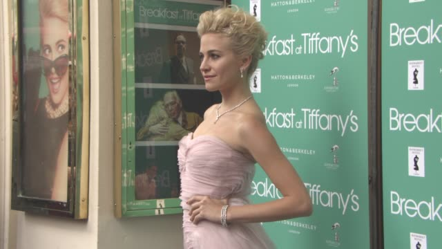clean 'breakfast at tiffany's' press night on july 26 2016 in london england - event capsule stock videos & royalty-free footage