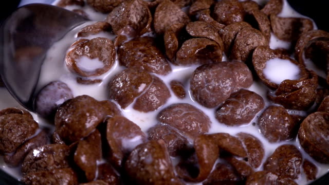 breakfast cereal - bowl stock videos and b-roll footage